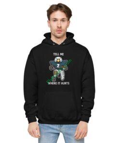 Tell Me Where It Hurts ( Jalen Hurts ) Unisex fleece hoodie