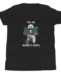 Tell Me Where It Hurts ( Jalen Hurts ) Youth Short Sleeve T-Shirt